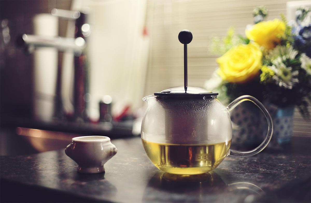 Drinking tea with best person ever