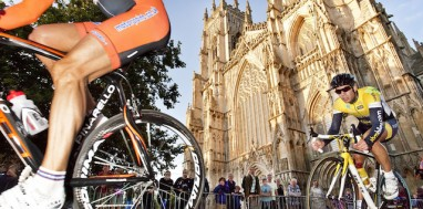 Cyclists in the city of York
