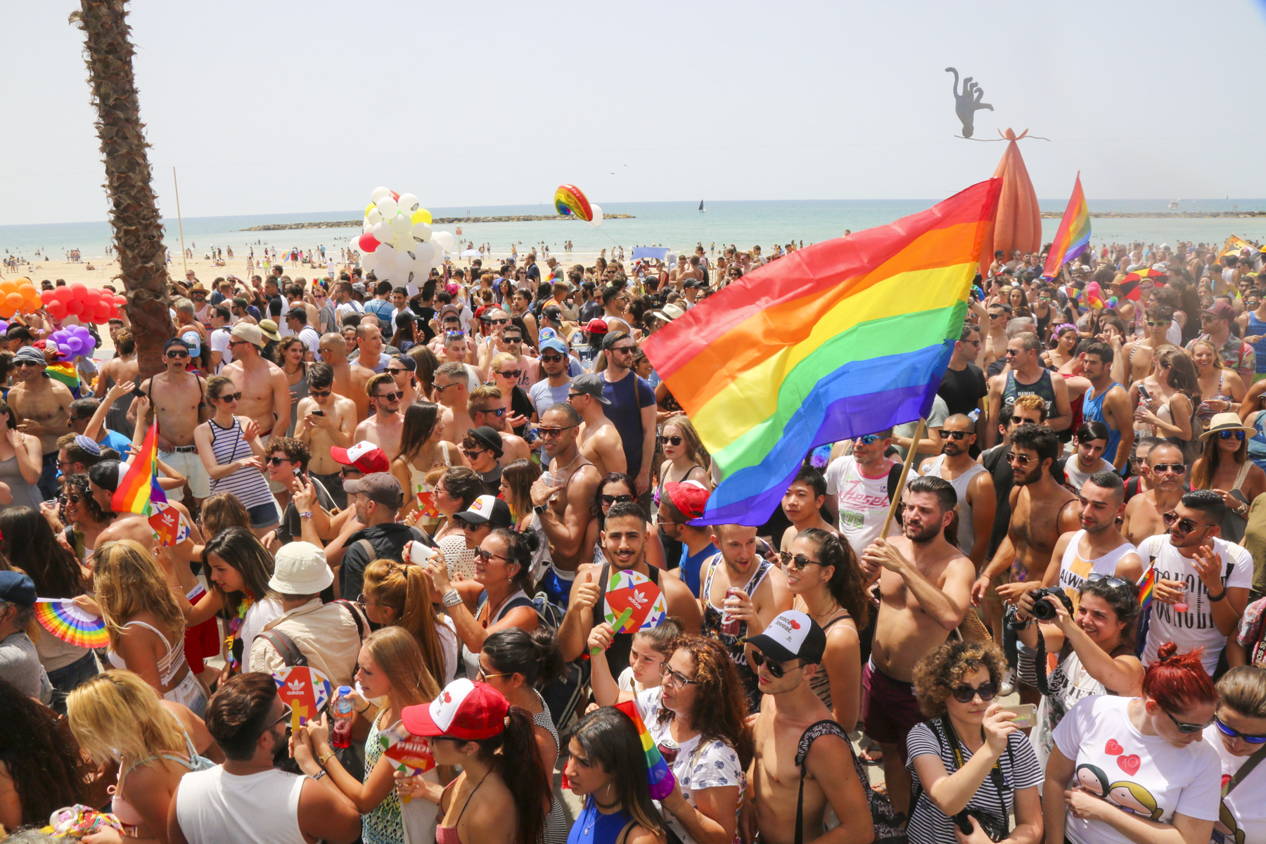 Gay Pride in Tel Aviv - Credit Guy Yechiely